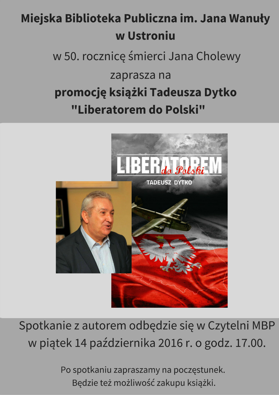 Spotkanie z Tadeuszem Dytko 14 .10.2016 godz 17.00